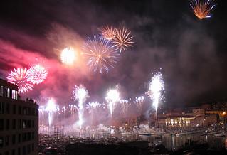 Fireworks in Marseilles