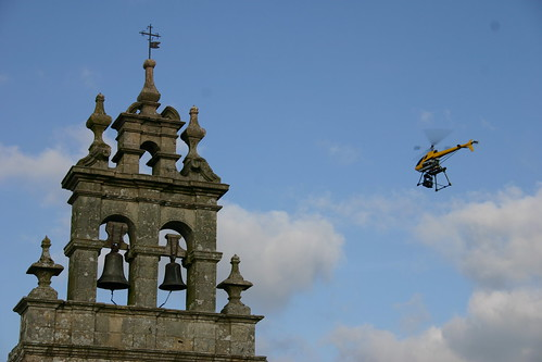 Helicóptero en acción