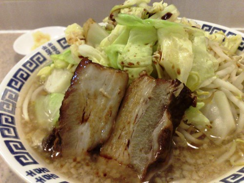 Soya Sauce Pork Bone Ramen Super Rich Sinjiro with Vegetables