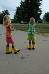 Hmmm...maybe if we wear our rain boots, it will rain!