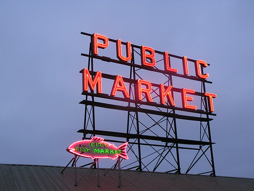 Pike Place Market sign, Seattle