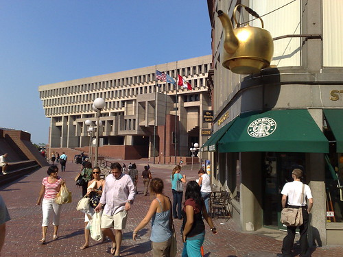 Boston City Hall and Tea Kettle