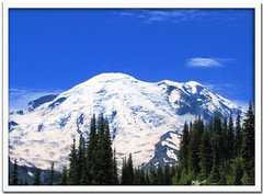 Mt. Ranier (Carplips) Tags: blue cloud mountain snow forest landscape washington glacier alpine lush lenticular mtraniernationalpark isawyoufirst
