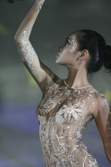 body paint contest in hongkong