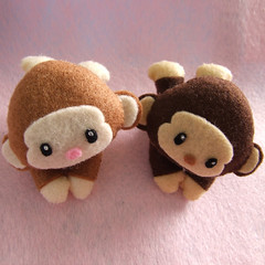 monkeys (Eskimimi) Tags: uk animal animals mouse toys zoo monkey stuffed tortoise lion donkey felt squid seal plushie monkeys giraffe etsy worm worms