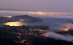 Moon Lit Night (A Sutanto) Tags: california ca city longexposure urban usa moon mist reflection fog night america lights evening bay view metro dusk scenic mttam marincounty sanfranciscobay sfbay mttamalpais flickrsbest abigfave aplusphoto