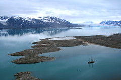 Dutch boat in the lagoon (Fredww) Tags: sea ice boat glacier svalbard spitzbergen spitzberg
