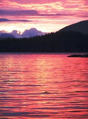Ocean of Fire (Buford Blue) Tags: ocean sunset red sea sky reflection alaska clouds island fire bay dusk shore inlet sitka mountians molten superbmasterpiece