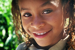 Brazilian hope... (carf) Tags: poverty girls light brazil portrait girl beauty brasil kids children hope kid community support child risk naturallight forsakenpeople esperana social impoverished underprivileged afrobrazilian altruism eldorado shanty brazilian favela development prevention atrisk mundouno ranielle