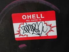 Zephyr Sticker in Sakuragicho Japan (CharleyMarley) Tags: art japan graffiti paint tag spray zephyr  yokohama graff piece aerosol bomb hellomynameis sakuragicho japan2004