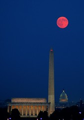 Harvest Moon rising II (philliefan99) Tags: moon arlington virginia washingtondc dc washington districtofcolumbia luna fullmoon explore uscapitol capitol pollution obelisk lincolnmemorial dcist arlingtonvirginia washingtonmonument harvestmoon redmoon unitedstatescapitol photofaceoffwinner photofaceoffplatinum pfogold goldstaraward