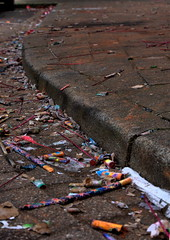 Aftermath (Remko.) Tags: aftermath fireworks pavement alcohol rommel vuurwerk stoep remko oudnieuw