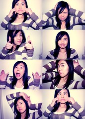 My love for photobooths (Lauve) Tags: pictures silly girl idiot photobooth different faces several emoticons laugh variety emotions