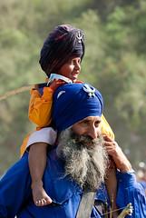 Fearsome Duo (gurbir singh brar) Tags: india warriors sikhs punjab 2009 brar gurbir nihangs holamohalla gurbirsinghbrar gurbirsingh