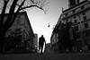 Back  Home (Donato Buccella / sibemolle) Tags: street blackandwhite bw italy milan photography milano lowangle fromtheground portavenezia canon400d sibemolle giardinidiportaveneziastreet