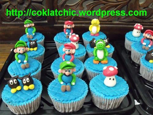 Mario Bross cupcake – ANDRA | Jual Kue Ulang Tahun