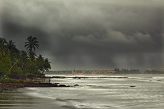 Goa Monsoon - City of Panjim (Anoop Negi) Tags: life city sea portrait sky india beach water rain weather clouds river se