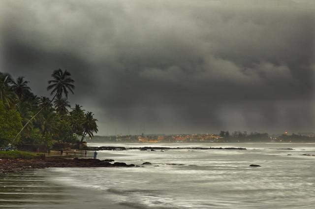 View of Panaji, Goa, India, in monsoon season