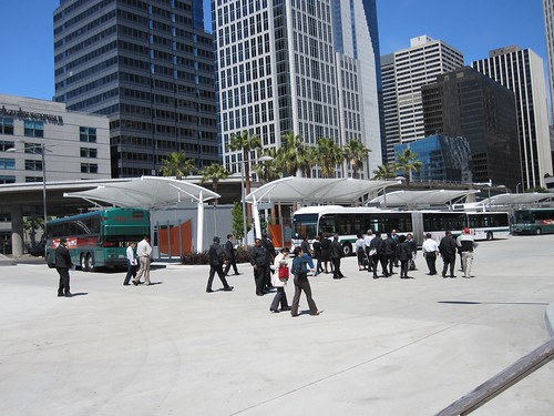 AC Transit training at Transbay Temporary Terminal