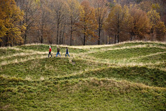 Wavefield, Maya Lin (Guillermo Murcia) Tags: park autumn trees newyork fall nature field grass landscape nikon peace arts wave upstate center stormking architectural mayalin relieve wavefield supershot d80 guillermomurcia