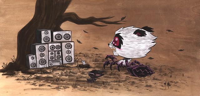 Crabby Stereo Bear by Martin Hsu