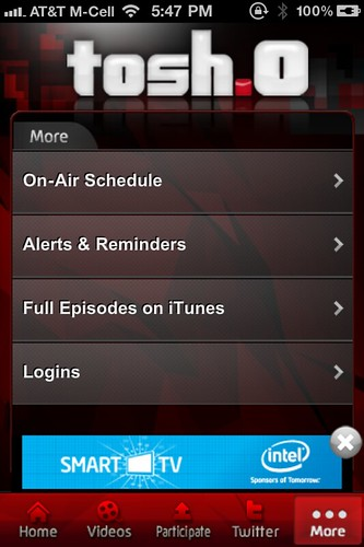 Tosh.0 iPhone App