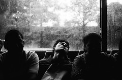 feel sleepy? (khaniv13) Tags: people bus film window rain analog busway random sleep jakarta 400 canonaf35ml luckyshd100 khaniv13