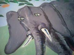 070525 loliphant 1107 (Dan4th) Tags: cameraphone cambridge elephant boston painting phonecam ma mural mit building2 02139 massachusettsinstituteoftechnology