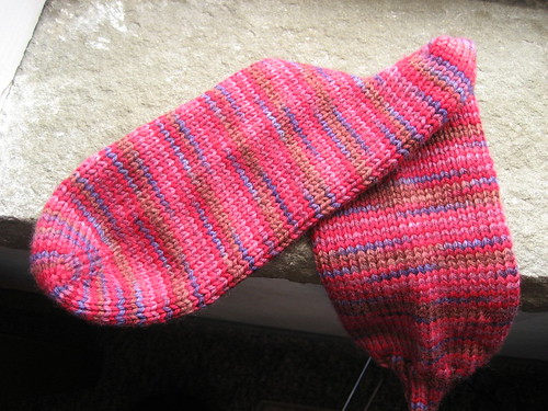 Berry Socks - in progress