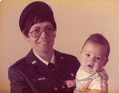 1978 October XX, Sheppard AFB TX, Marlyna and Noel A. Hidalgo - the AF gave me a baby