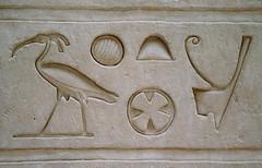 Jeroglficos_01 (Bellwizard) Tags: bird au egypt ibis ave egipto egipte hieroglyphs jeroglficos jeroglfics