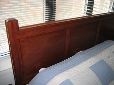 solid rosewood headboard