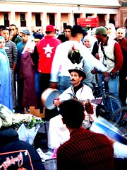 Dj. El-Fna (mariokoko) Tags: sky sahara sunrise dj morocco elfna