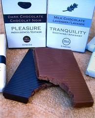 Pleasure & Tranquility (Lara's  Stuff) Tags: candy chocolate tranquility pleasure indulgence soothing milkchocolate darkchocolate chocolatenoir