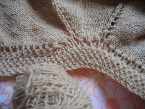 comfort shawl (before ripping back 6