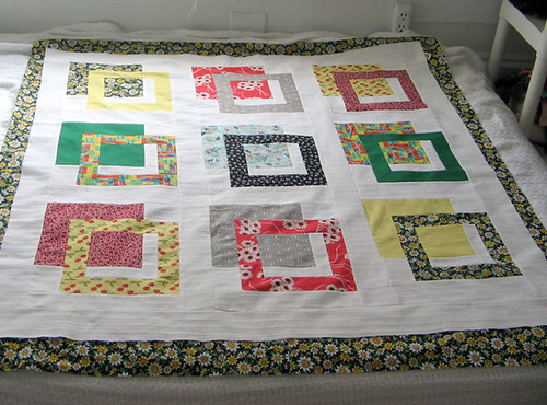 Outside the Box Quilt top