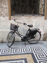 A bike in the passage