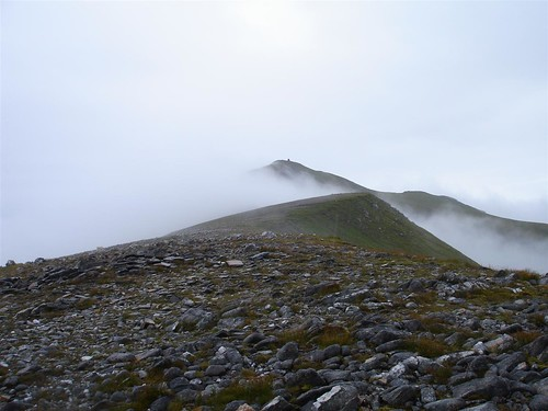 A' Chralaig in cloud