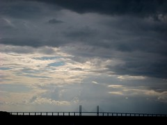 Öresundsbron (Håkan Dahlström) Tags: bridge sky sun skåne sweden himmel ciel cielo lucht malmö malmo oresund öresund öresundsbron skane oeresund