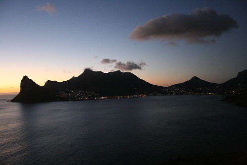 Sunset over the Town of Hout Bay
