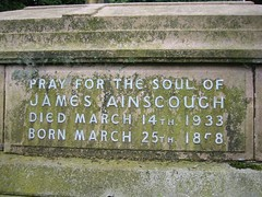 James Ainscough b.25th March 1858 – d.14th March 1933