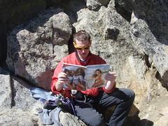 """There's no sports at all in this magazine."" (sherpa156) Tags: stuart climbing alpine nate rockclimbing alpineclimbing mtstuart"