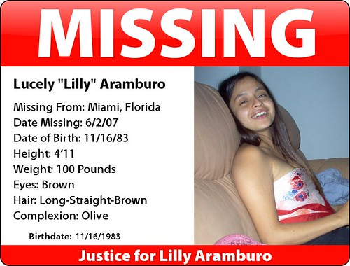 MISSING Lilly Aramburo