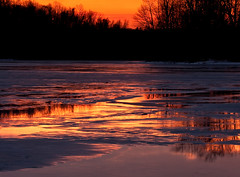 Reflections on an Icy Lake That Bores me to Tears Until I Get There and Find That the Colours are....Just Right (No_clever_names_left (Michael Lawrence)) Tags: longexposure ice sunrise reflections that one is pennsylvania no believe gonna wintersky chestercounty wrote downingtown canon100mmf28 8secondexposure i marshcreeklake canoneos40d marshcreeklakestatepark imanawesomephotographer