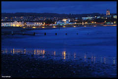 Exmouth Lights (Frog n fries) Tags: sea beach water night reflections lights devon exmouth dawlishwarren solofotos