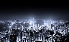 [フリー画像] 建築・建造物, 都市・街, 高層ビル, 夜景, 中華人民共和国, 香港, 201007191700