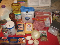ingredients for Albondigas a la Milanesa