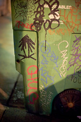 Compostable Trees (SF  gogo) Tags: sanfrancisco california graffiti garbage tag photowalk tenderloin 2010 plantrees inaccurategeotag dspw042010