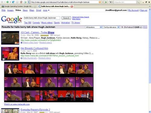 Video-Vorschau Google Video