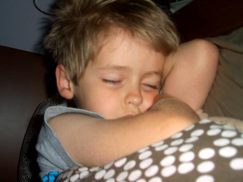 Benny, sleeping